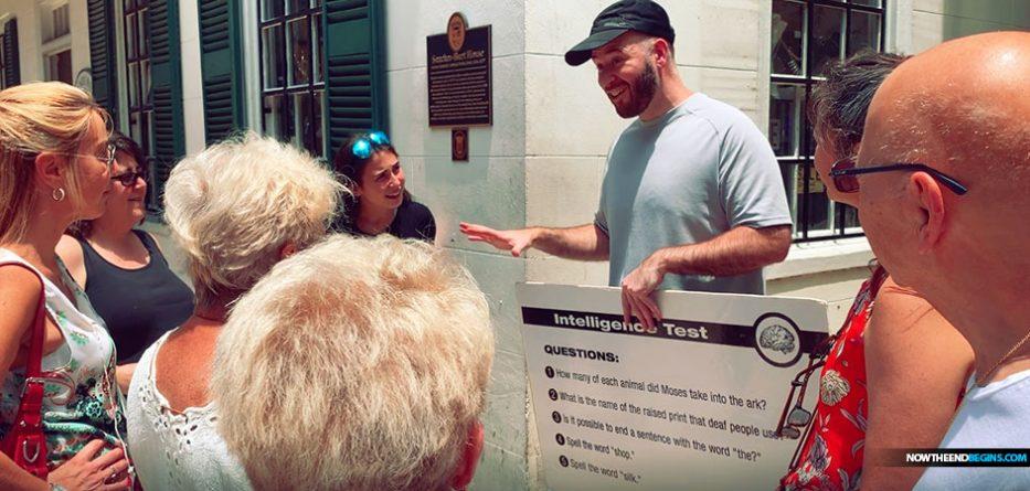 Bro. Jay Witnessing The Gospel On Saint George Street In Saint Augustine Florida