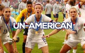 Allie Long, Megan Rapinoe Drop American Flag During World Cup Celebration