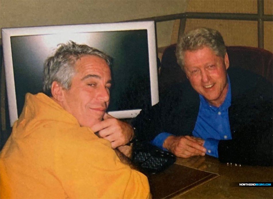 Photo showing Jeffrey Epstein and Bill Clinton together