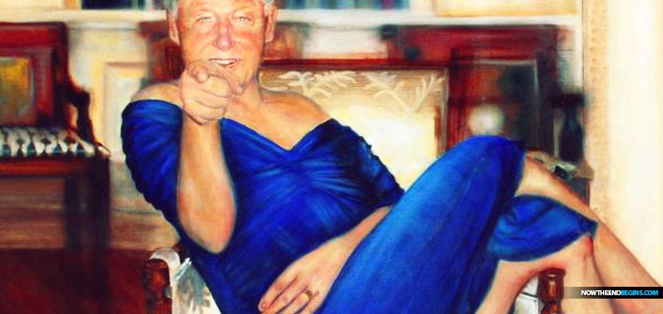 Parsing Bill Clinton oil painting by Petrina Ryan-Kleid