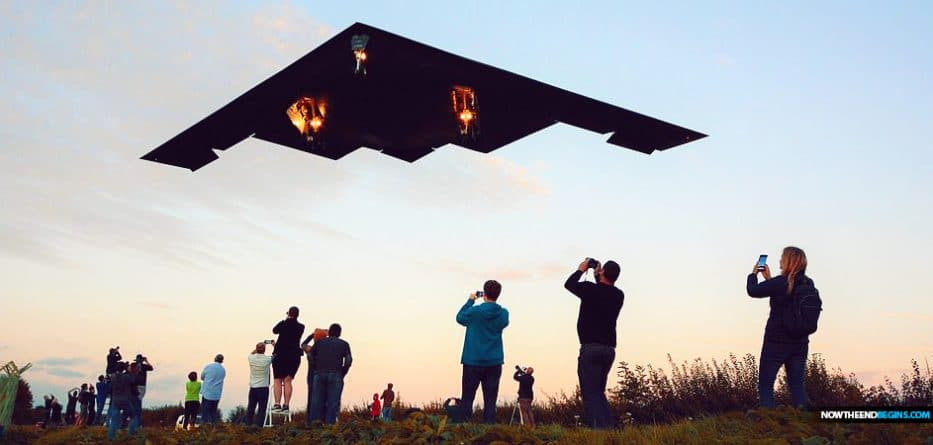 US Stealth Bomber costing $2.1bn and with call-sign 'DEATH' lands at British RAF base after training mission in Iceland as stunned plane fanatics look on