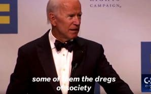 Joe Biden calls Trump supporters the 'dregs of society