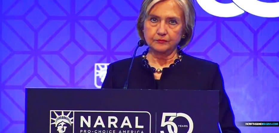 "Hillary Clinton Wins Pro-Abortion ""Lifetime Achievement"" Award, Calls Killing Babies a Human Right"