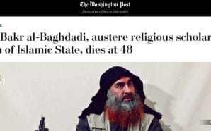 Washington Post Catches Flak for Changing Baghdadi Headline, Calling ISIS Leader 'Austere Religious Scholar'