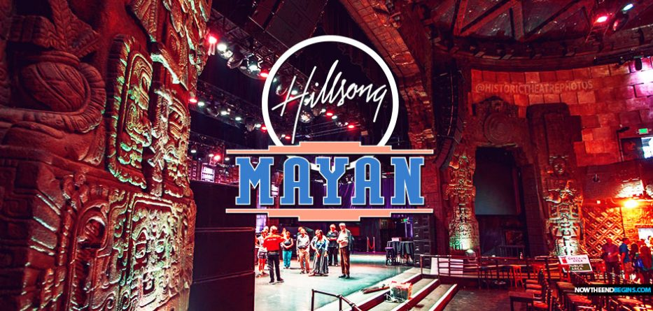 A concerned reader who recently attended Hillsong Church for the sake of evangelism has reported that they are now beginning to meet periodically for worship at the Mayan Theater in Los Angeles, moving from the Belasco Theater. The service was moved to the Mayan Theater the Sunday prior to Halloween and is again scheduled at the theater for their always controversial flesh-driven Christmas special. But this year, they're throwing in some child sacrifice decorations for the festive occasion.