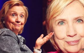 What is the secret of Hillary Clinton's strangely plumped-up-cheeks?