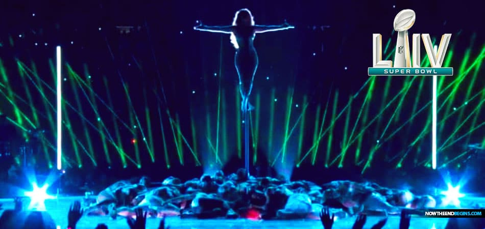 Jennifer Lopez Super Bowl 2020 Halftime show mocks Jesus Promotes Illuminati All-Seeing Eye