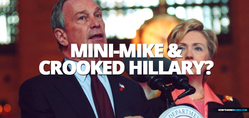 Mini Mike Bloomberg Considering Picking Crooked Hillary Clinton As His Running Mate Is Desperate Attempt To Inject Excitement Into Democratic Party in Drudge Report exclusive.