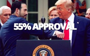 An ABC News/Ipsos poll released Friday reports that 55 percent of respondents approve of Trump's management of the COVID-19 coronavirus public health crisis