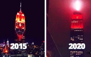 In 2015, the Empire State Building was lit up in spectacular fashion with the image of Kali, the Hindu goddess of death. It was almost as if they were inviting her in. In 2020, that same Empire State Building is flashing a red distress signal.