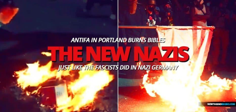 portland-antifa-burns-bible-american-flag-like-nazi-germany-fascists