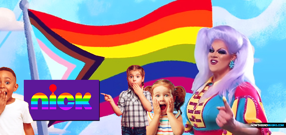 nickelodeon-drag-queen-pride-month-teaching-colors-lgbtq-flag-to-children-indoctrination-transgender-kids