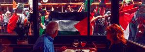 pro-palestinian-rioters-burn-flags-israel-ilhan-omar-drive-out-jews-gaza-antisemitism