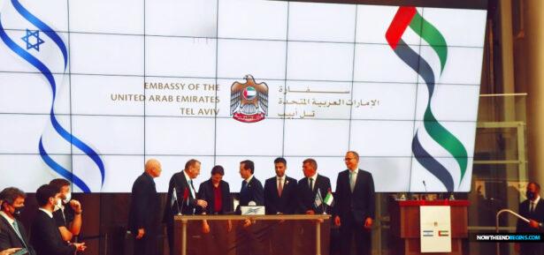 abraham-accords-uae-opens-embassy-tel-aviv-stock-exchange-israel-peace-treaty-covenant-end-times-king-james-bible-prophecy-nteb