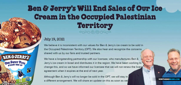 ben-jerrys-vermont-ice-cream-war-with-israel-over-boycott-occupied-palestinian-territory-bds-antisemitism-middle-east-hamas-self-loathing-jews