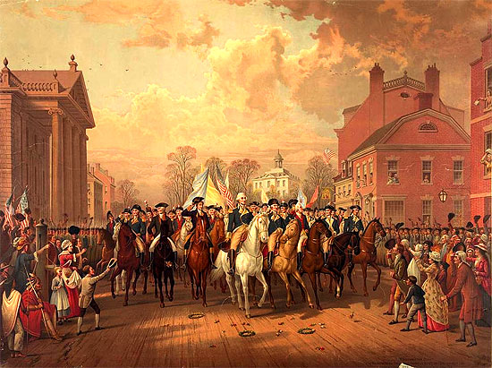 Image result for british forces  leave new york in 1783