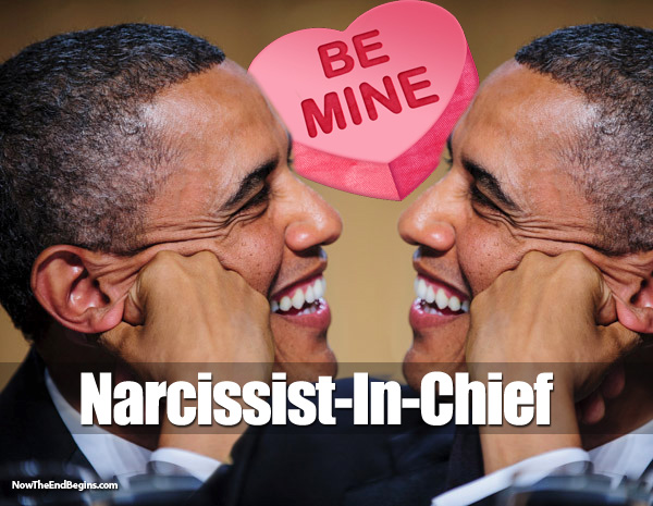 obama-narcissist-in-love-with-himself-antichrist