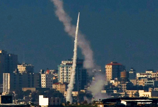 rocket-fired-by-gaza-terrorists-in-palestine-towards-israel